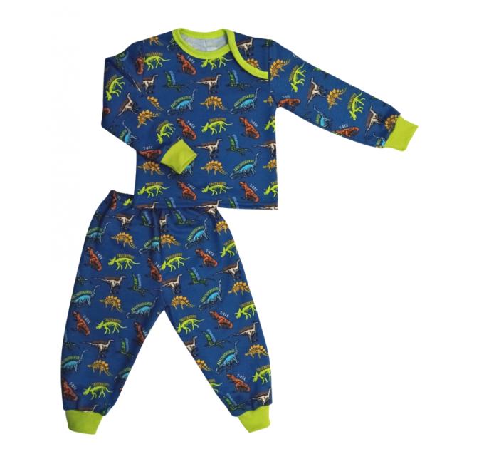 Пижама теплая 610/39 разноцветные дино