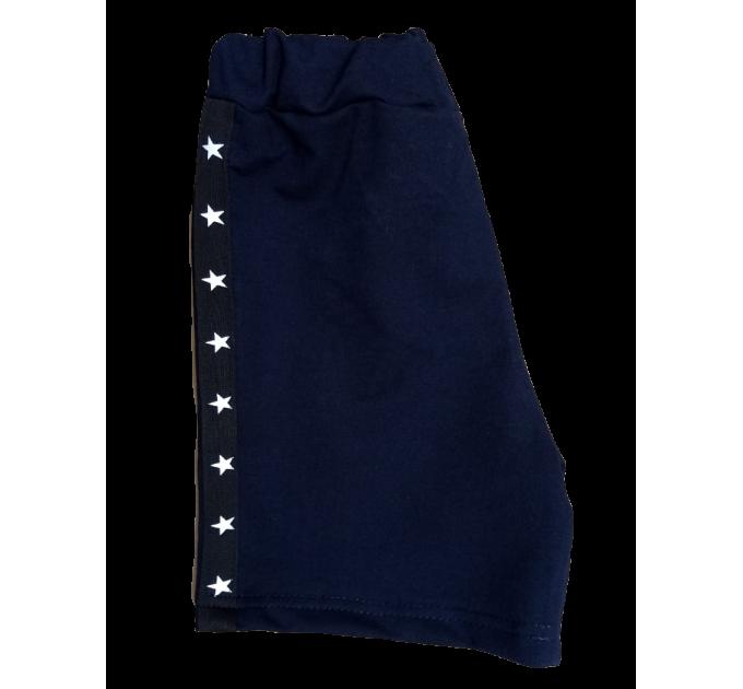 Шорты (3007/2) т.синие, 2х-нит, лампас