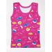 Майка для девочки 101 акулы, интерлок