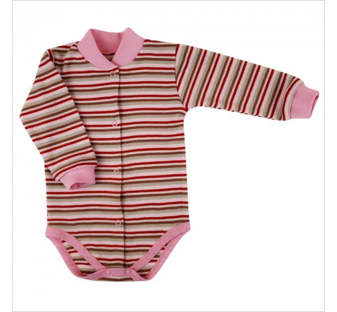 Боди 5086/13 (розовая, полосатая)