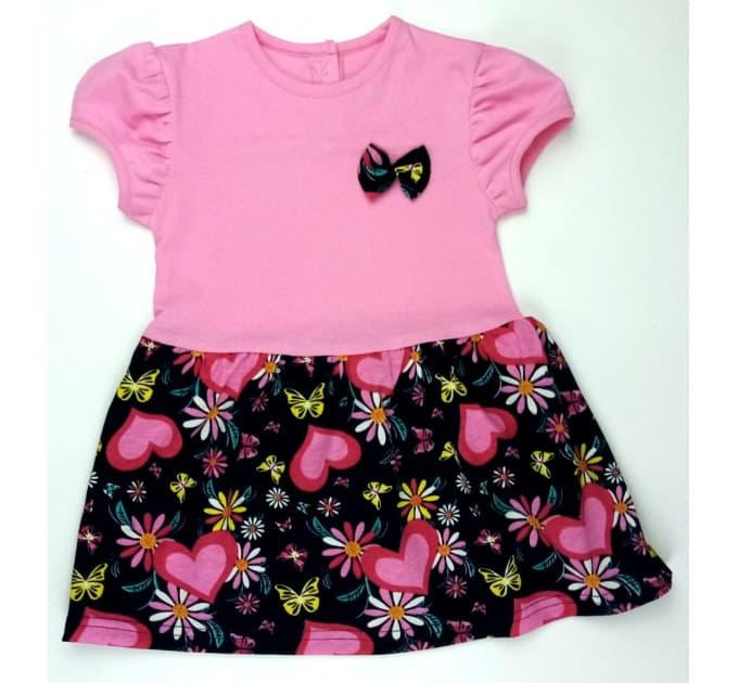 Платье 7044/28 (сердца, розовое)