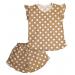 Пижама 614/16 коричневая, горох