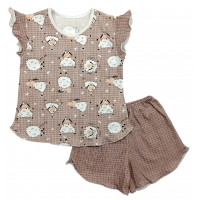Пижама 614/10 (барашки, коричневая)