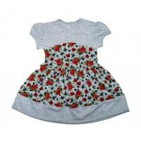 Платье 7111/2 (серое, розы)