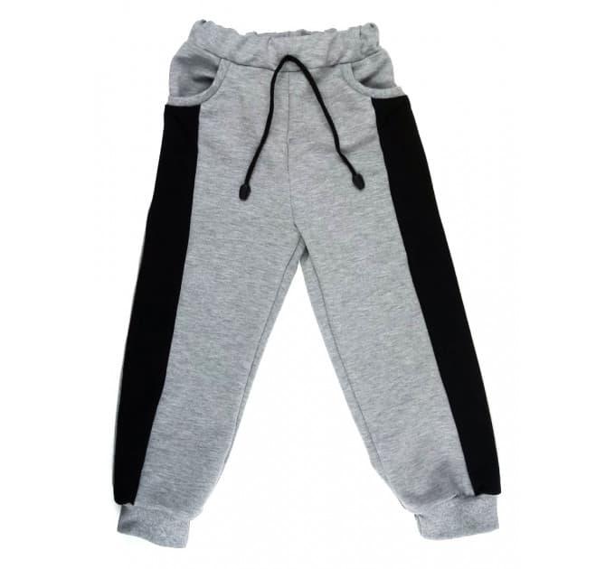 Спортивные штаны 391/1 (меланж, черная вставка)
