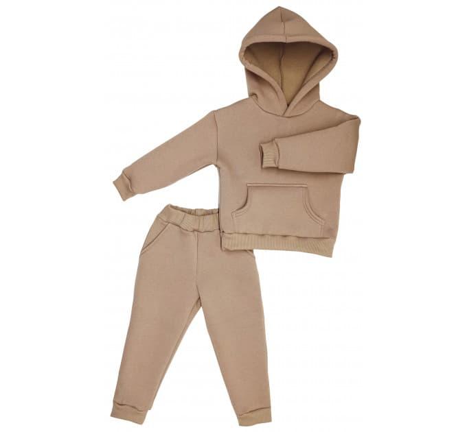 Спортивный костюм 0313/15 коричневый, без начеса