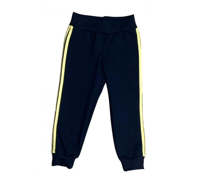 Спортивные штаны 381/34 т.синие, желтые лампасы