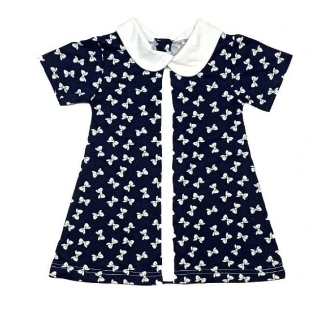 Платье 7066/6 (темно-синее, бантик)