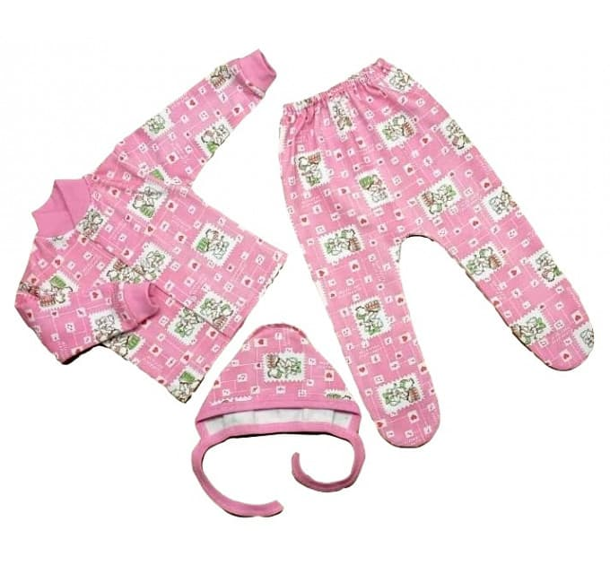 Комплект ясельный 027/7 розовый