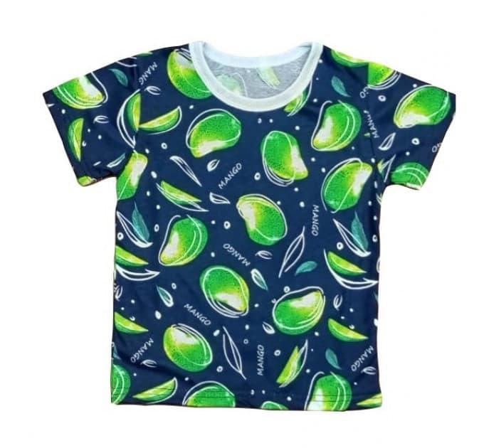 Футболка для девочки 411/96 манго зеленый