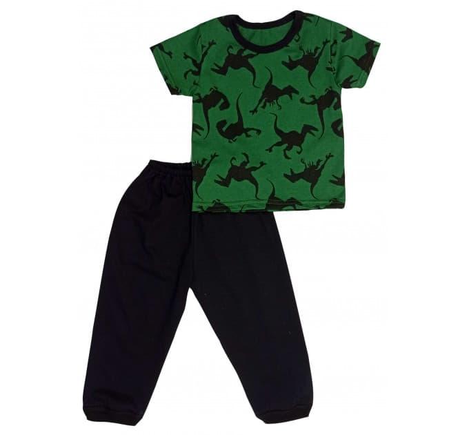 Пижама 638/2 (динозавры на зеленом)