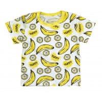 Футболка для девочки 411/74 (бананы)
