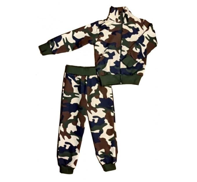 Спортивный костюм 0209/54 зелено-коричневый камуфляж