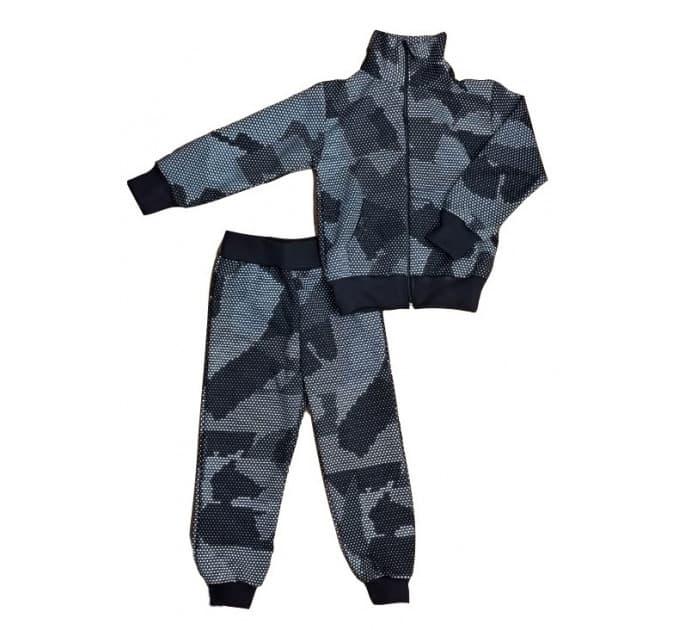 Спортивный костюм 0209/9 (камуфляж, черный)