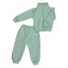 Спортивный костюм 0256/10 зеленый, лампасы