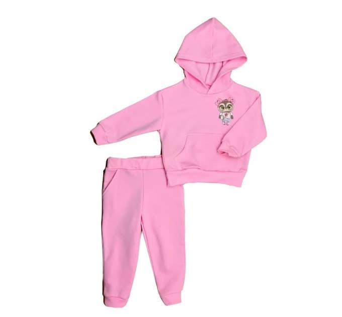 Спортивный костюм 0316/6 розовый с наклейкой