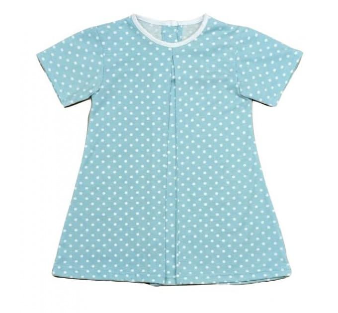Платье 7066/19 горох на голубом