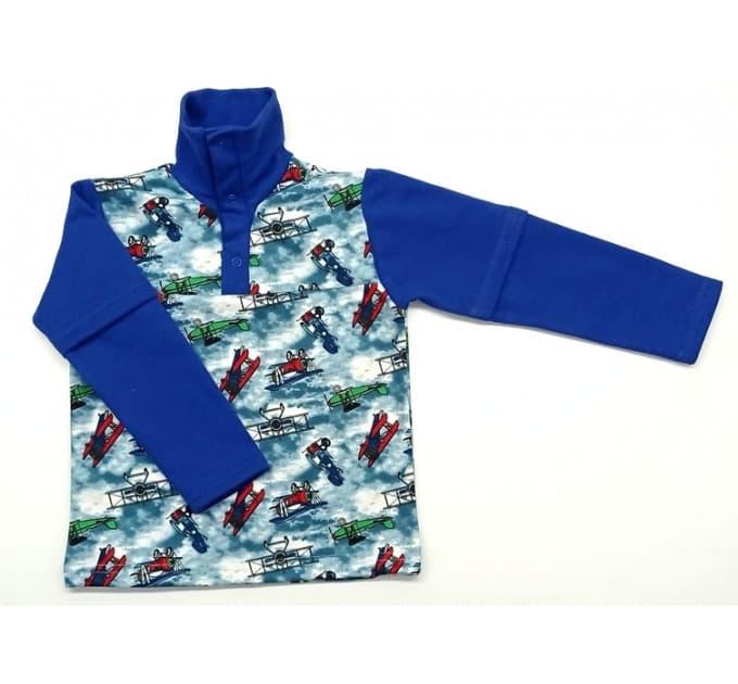 Рубашка теплая 403/4 (самолеты на синем)