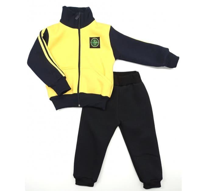 Спортивный костюм 0212/31 (желтый, нашивка мальчик)