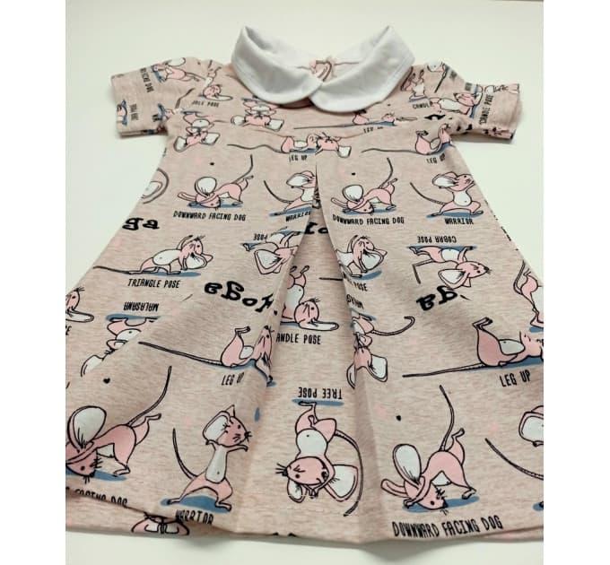 Платье 724/5 (розовые мышки)