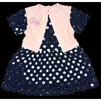 Платье 7104/9 (розовое, юбка в горох)