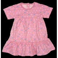 Платье 724/14 (розовое, цветной горох)