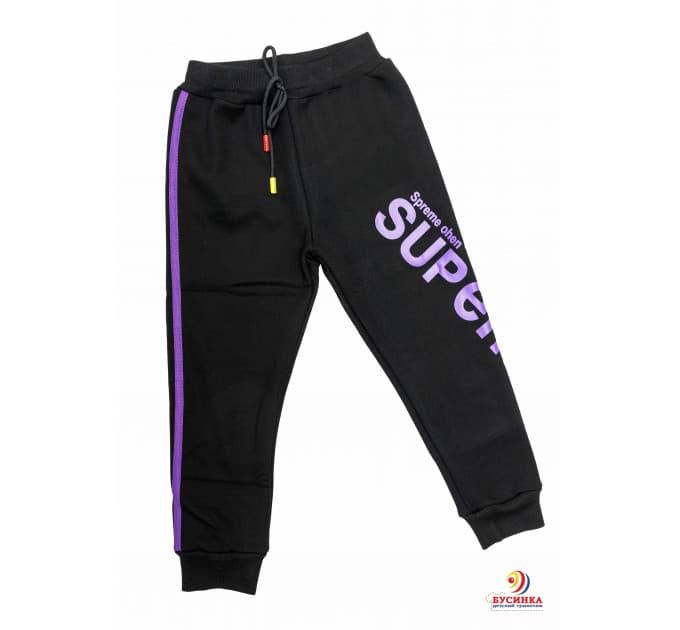 Спортивные штаны №6 (фиолетовые лампасы)