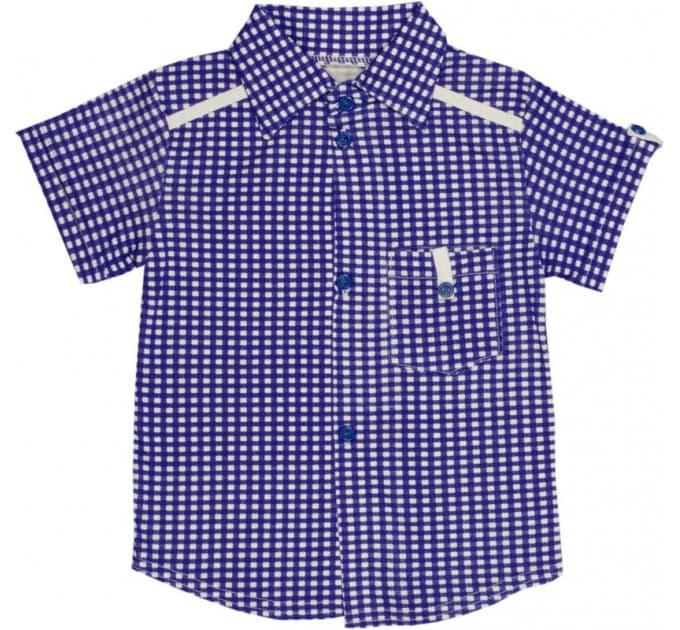 Рубашка 435/1 (клетка, василек)