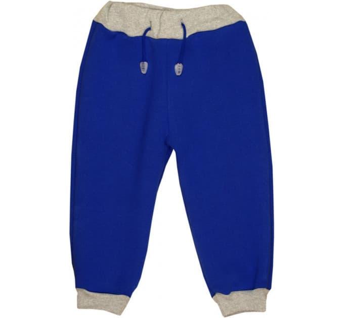 Спортивные штаны 396/1 (василек, сер/манжет) 3-нитка
